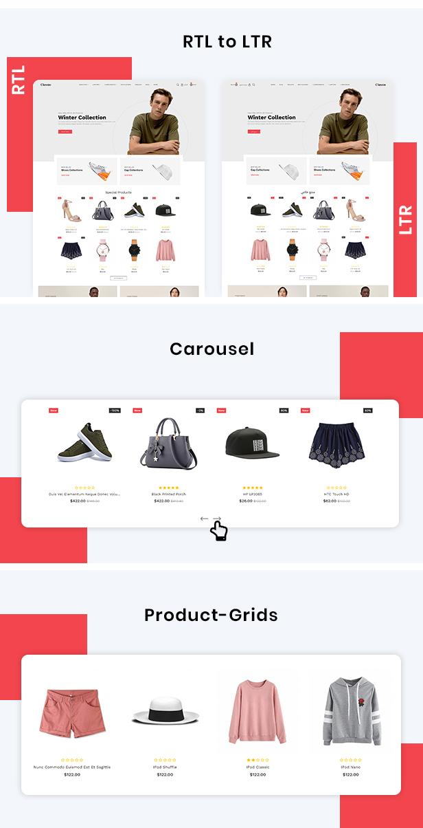 Classio Fashion Responsive OpenCart 3 Theme - 4