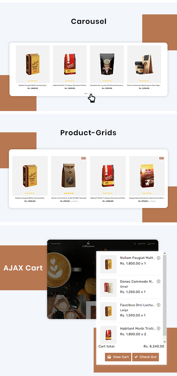 CoffeeZone Multipurpose E-commerce Shopify Template - 4