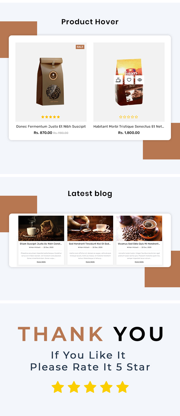 CoffeeZone Multipurpose E-commerce Shopify Template - 5