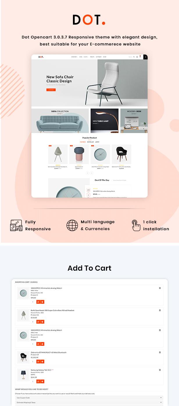 Dot Furniture Responsive OpenCart 3 Theme - 2