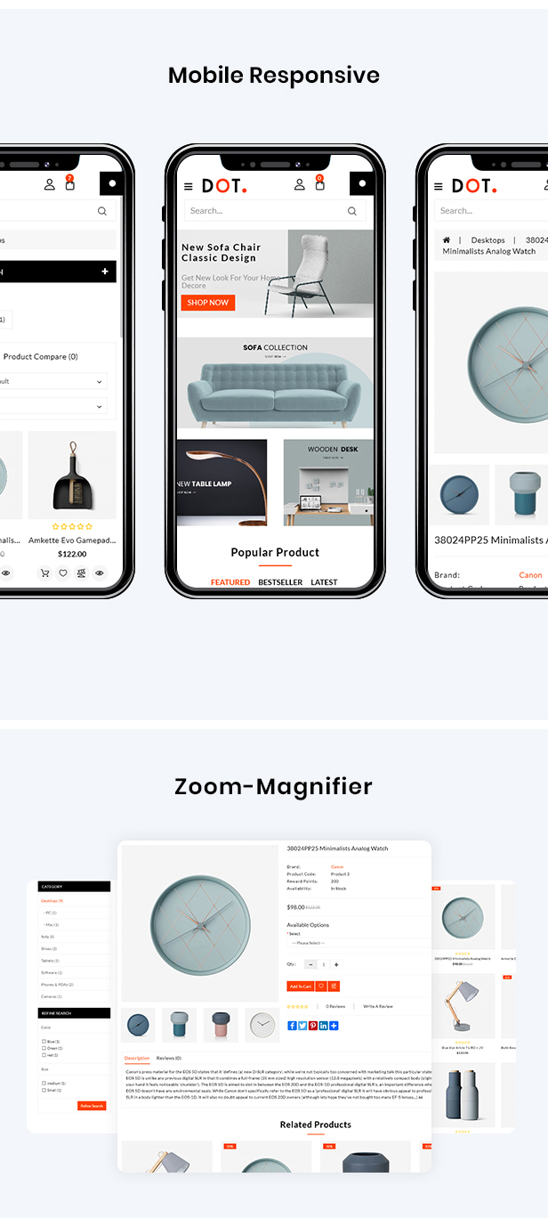 Dot Furniture Responsive OpenCart 3 Theme - 3
