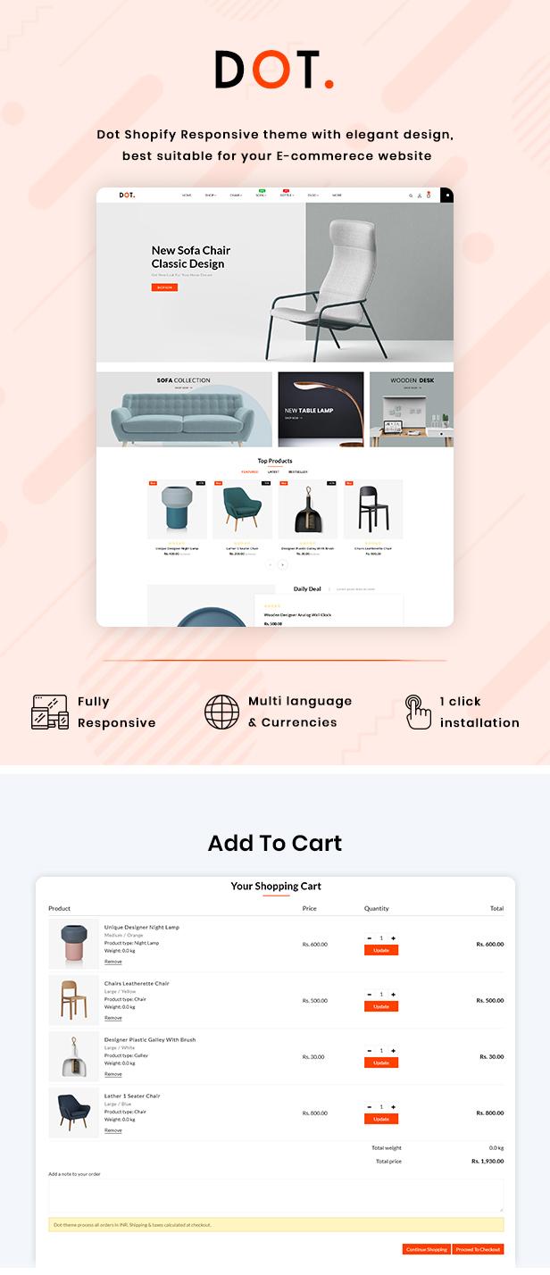 Dot Furniture Shopify Responsive Theme - 2