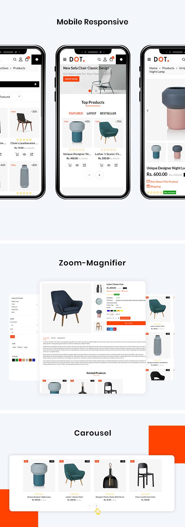 Dot Furniture Shopify Responsive Theme - 3