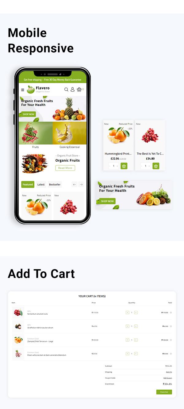 Flavoro - Organic Food Stencil BigCommerce Theme - 3
