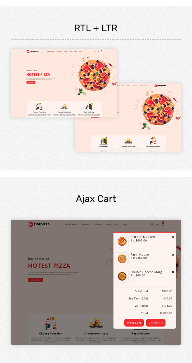HotPizza - Pizza & Food Delivery OpenCart Store - 3