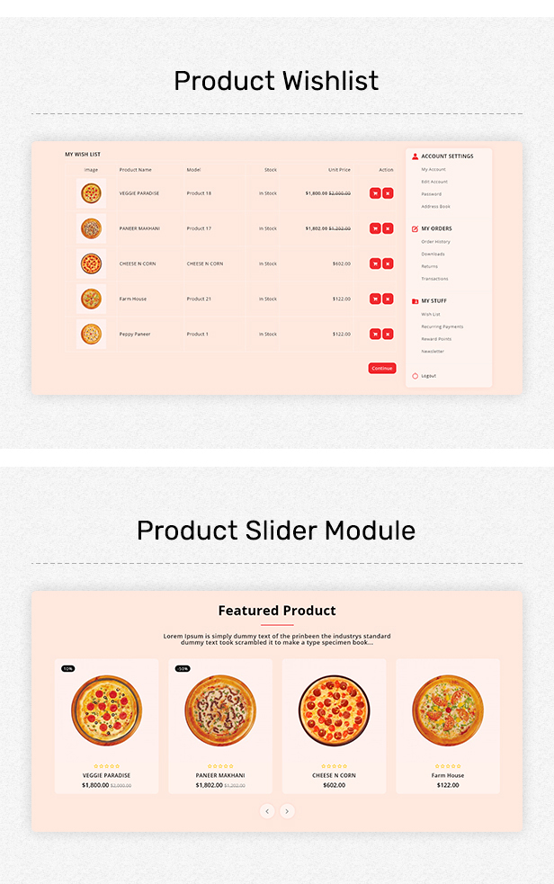 HotPizza - Pizza & Food Delivery OpenCart Store - 4