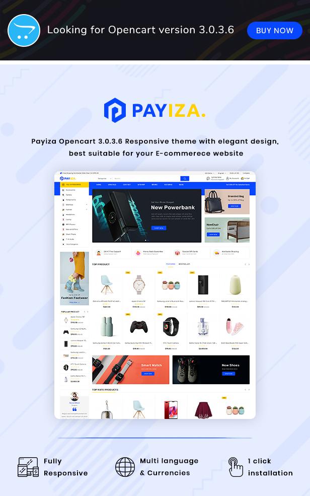 Payiza - eCommerce OpenCart Theme - 2