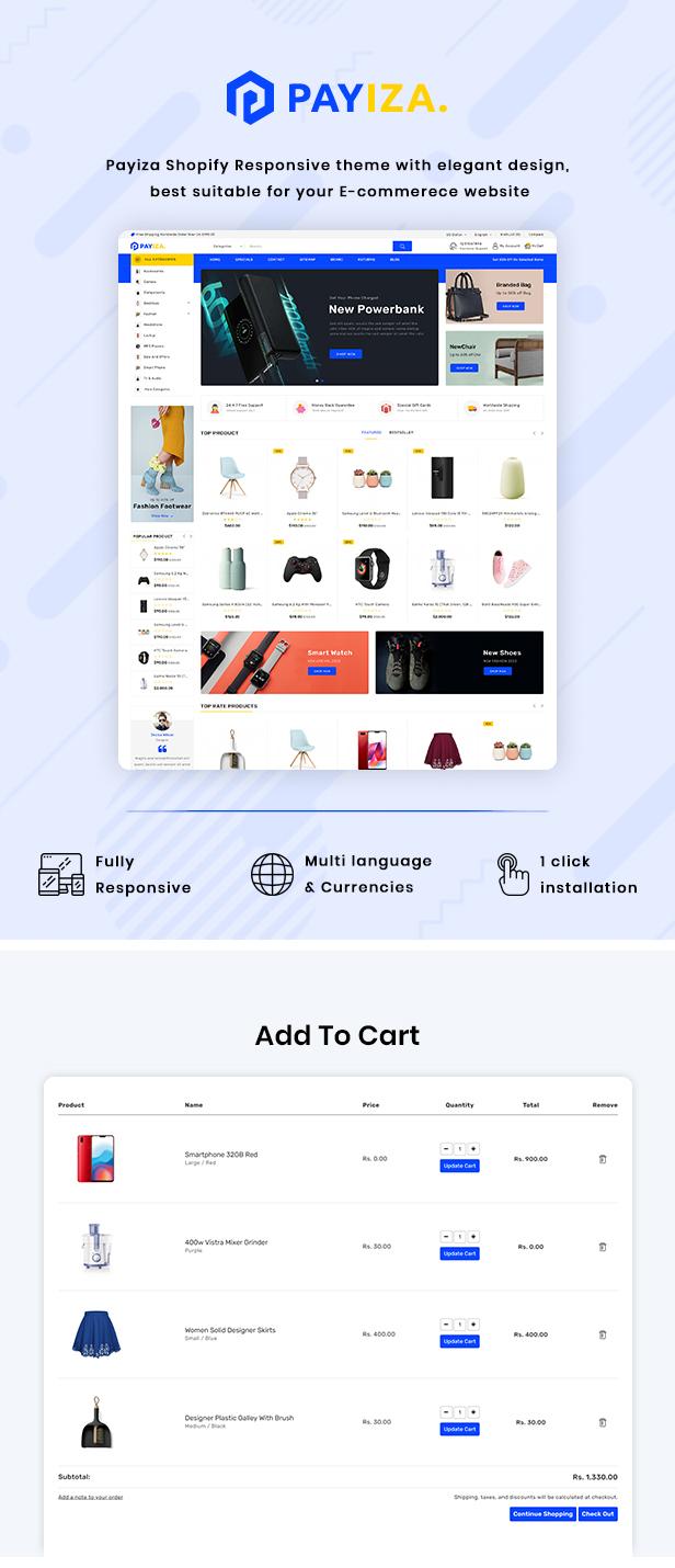 Payiza Multipurpose Shopify Responsive Theme - 2