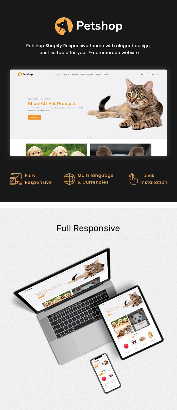 Petshop - Multipurpose E-commerce Shopify Template - 2