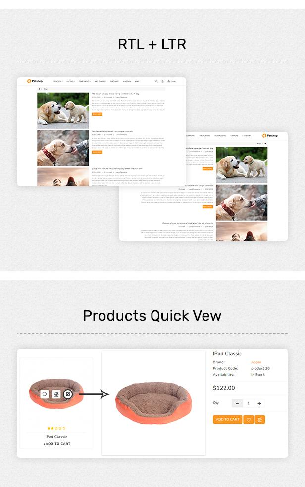 Pestore - Responsive Food Pet Store OpenCart 3 Theme - 3