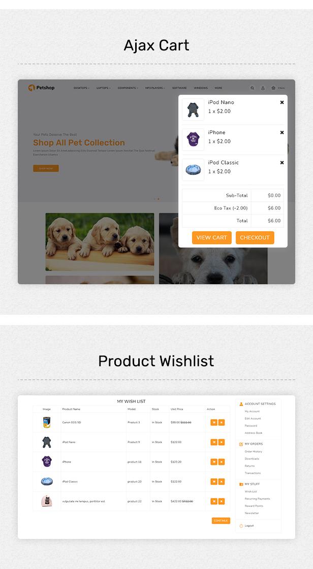 Pestore - Responsive Food Pet Store OpenCart 3 Theme - 4