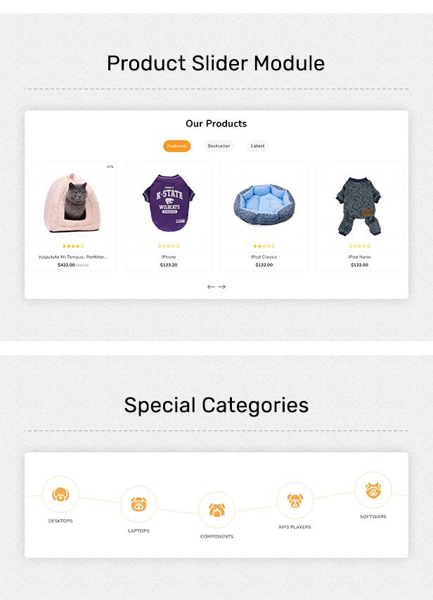 Pestore - Responsive Food Pet Store OpenCart 3 Theme - 5