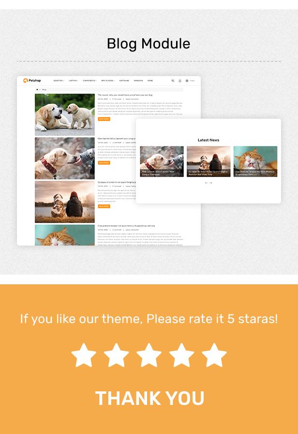 Pestore - Responsive Food Pet Store OpenCart 3 Theme - 6