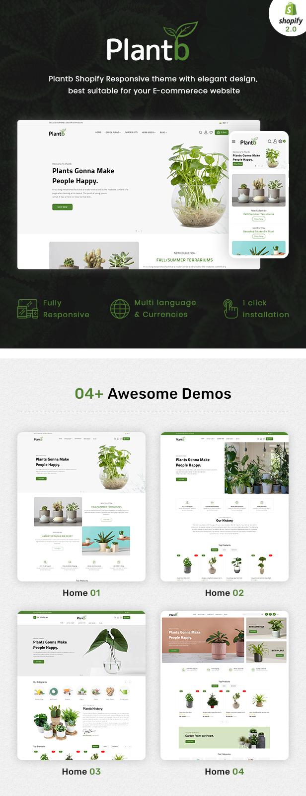 PlantB - Gardening, HomeDecor & Houseplants Theme - 3