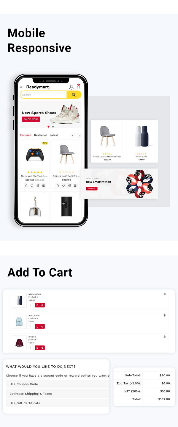 Readymart Electronics Ecommerce multipurpose OpenCart Theme - 3
