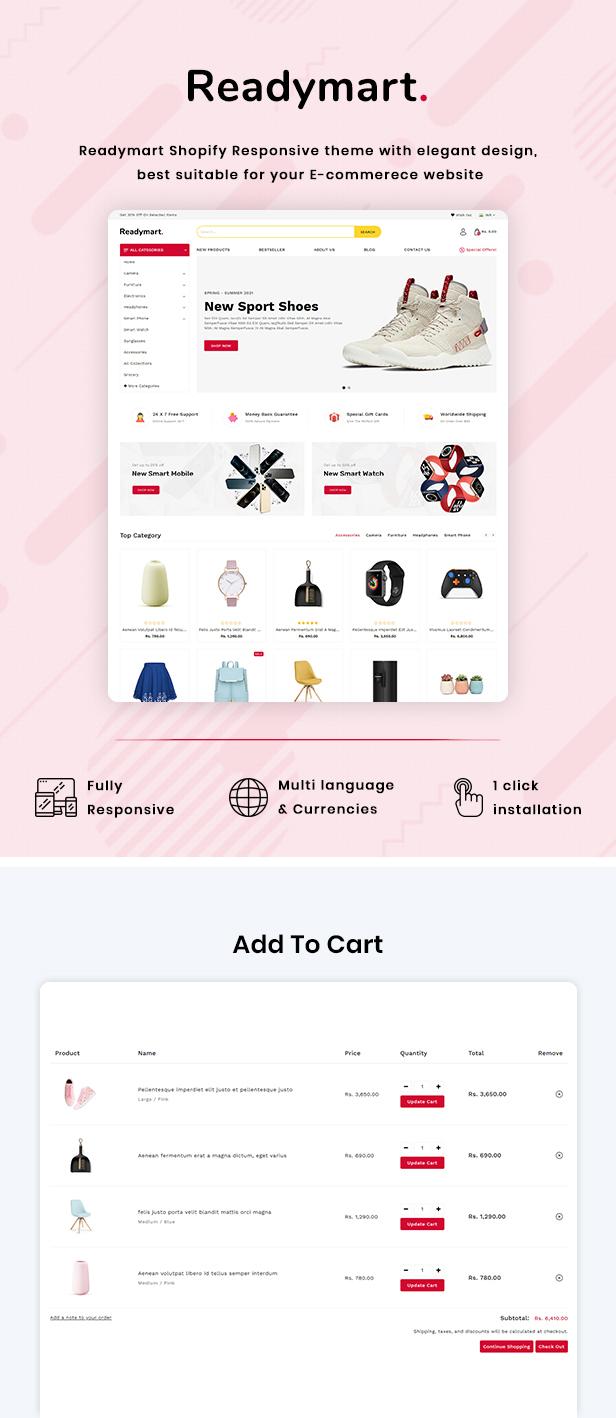 ReadyMart Multipurpose Shopify Responsive Theme - 2