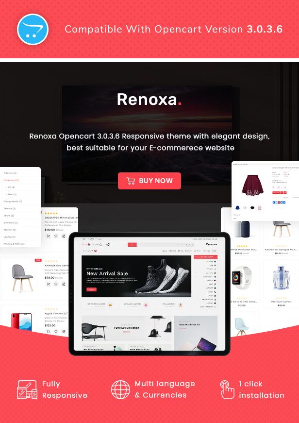 Renoxa Multipurpose Opencart Responsive theme - 2