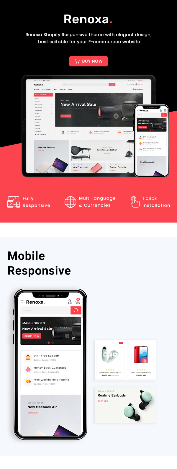 Renoxa Multipurpose E-commerce Shopify Template - 2