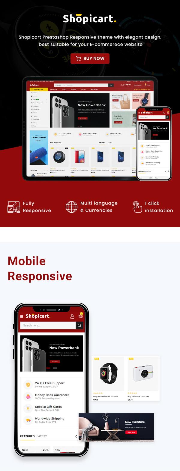 ShopiCart - Premium Multipurpose PrestaShop Theme - 2
