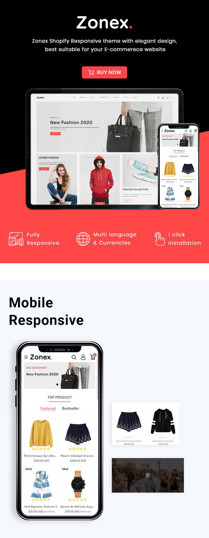 Zonex Multipurpose E-commerce Shopify Template - 2